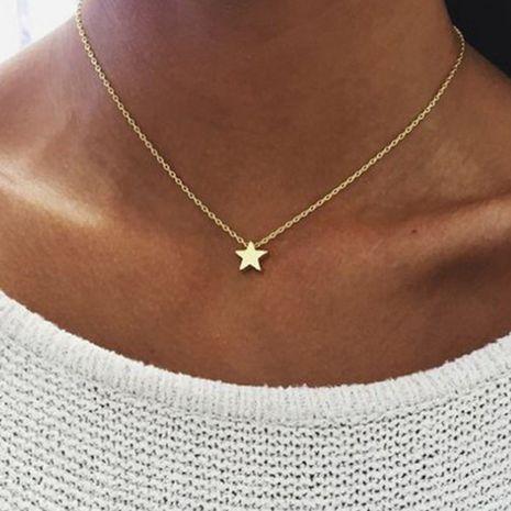 fashion pentagram pendant necklace creative retro simple alloy clavicle chain wholesale nihaojewelry NHPJ218255's discount tags