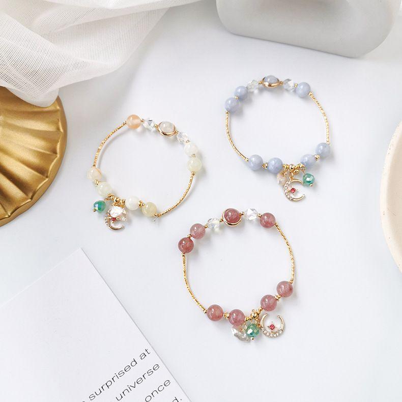 Sweet Mori ethnic style single circle bracelet ladies personality girl elastic bracelet literary retro couple jewelry NHMS218288