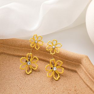 Fashion exaggerated earrings small daisy earrings Korean temperament  925 silver needle earrings nihaojewelry wholesale NHMS218299's discount tags