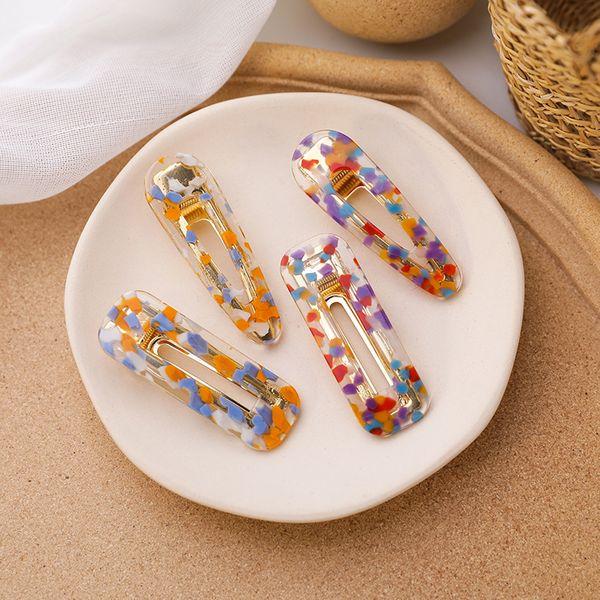 Korean hair clips girl color jelly hair clip simple geometric cute Japanese bangs clip simple clip wholesale NHMS218320
