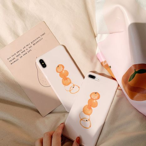 Cute ins wind orange apple 11pro mobile phone case for iPhone xsmax XR all-inclusive Huawei p30pro NHFI218532's discount tags