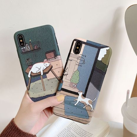 Japanese cute cartoon illustration suitable for Apple xs max mobile phone case P40pro all-inclusive Huawei mate30 phone case wholesale NHFI218535's discount tags