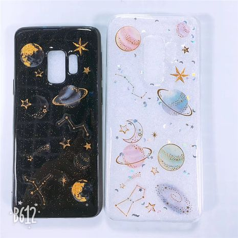 Korean glitter powder transparent planet mobile phone case suitable for Huawei P20 pro all-inclusive soft silicone mate20 phone case wholesale NHFI218554's discount tags