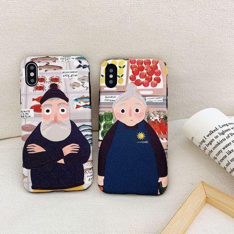 Grandpa grandma 8plus apple x silk pattern painted mobile phone case XS Max Huawei mae20pto applicable NHFI218555's discount tags