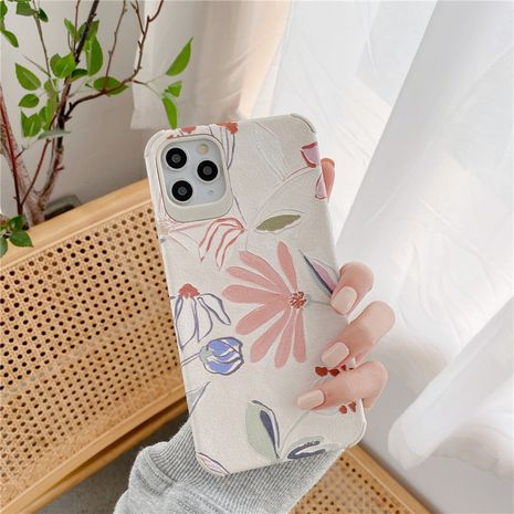 flower phonecase suitable for 11Pro  Max Apple X XS XR mobile phone case iPhone7p 8plus silicone phone case wholesale NHFI218557's discount tags