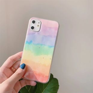 Soporte plegable simple del arco iris 8plus carcasa del teléfono móvil para apple xs max iphoneXR Epoxy soft phone case wholesale NHFI218558's discount tags