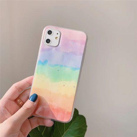 simple rainbow folding bracket 8plus mobile phone shell for apple xs max iphoneXR Epoxy soft phone case wholesale NHFI218558's discount tags