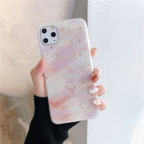 Apple pro max mobile phone shell watercolor graffiti Epoxy gold foil soft shell suitable for iphone XR 8plus phone case wholesale NHFI218563's discount tags