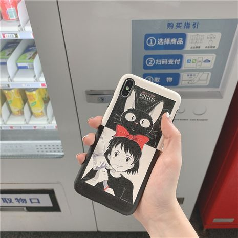Japanese anime black cat witch apple xsmax silk painted mobile phone case for Huawei P30 mae20 phone case wholesale NHFI218564's discount tags