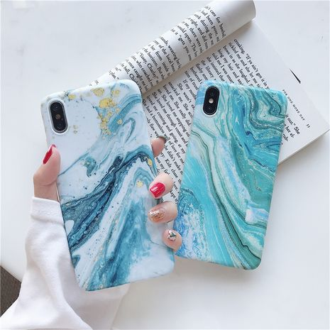 Simple gold marble suitable for Apple xsmax mobile phone shell Huawei mate20pro 8plus all-inclusive soft phone case wholesale NHFI218565's discount tags