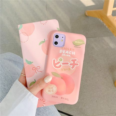 sweet peach drink iPhone 11Pro mobile phone shell phone case wholesale suitable for Apple MAX  XR liquid soft shell 7plus NHFI218570's discount tags