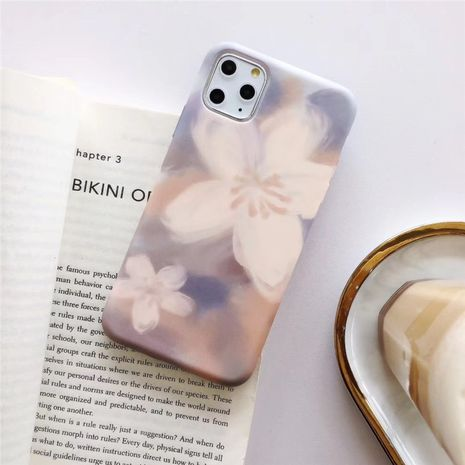 Simple small flower phone case for Apple 11 Promax iPhonexs 7plus 8plus water sticker soft shell anti-fall phone case wholesale NHFI218571's discount tags