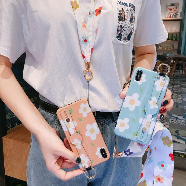 Xuanya Xiaohua 8plus wristband mobile phone case for Apple XS Max XR iphone7p anti-fall soft phone case wholesale NHFI218576
