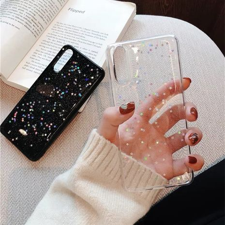 Korean glitter powder transparent star mobile phone case for Samsung note8 9 all-inclusive soft silicone case S10plus NHFI218577's discount tags