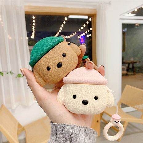 Cute Teddy Dog Freebuds3 Protective Case Stereo Silicone Huawei 3rd Generation Wireless Bluetooth Headset Case Box NHFI218584's discount tags