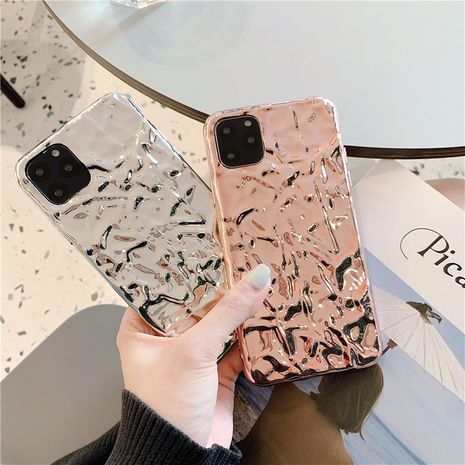 Creative wrinkle metal foil tin foil apple 11Promax mobile phone shell for apple x 8plus soft shell phone case wholesale NHFI218587's discount tags