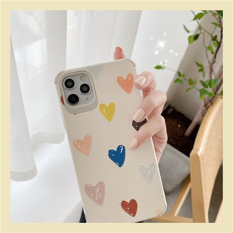 heart phone case wholesale small love for 11Pro Max Apple X XS XR mobile phone case iPhone7p female 8plus silicone NHFI218589's discount tags