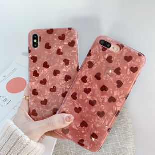Girl small love shell pattern iPhonexs max xr carcasa del teléfono móvil Apple 7plus 8plus silicona 6s funda de teléfono suave aplicable al por mayor NHFI218591's discount tags