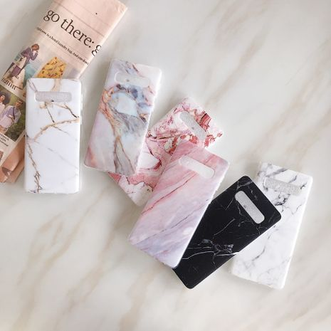 Simple marble mobile phone case suitable for Samsung S7 edge s8 s9+  note8 note9 all-inclusive protective phone case wholesale NHFI218592's discount tags