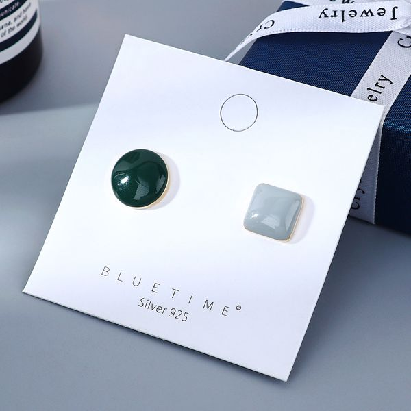 Korean  fashion new gold-plated wild niche   oil S925 silver needle copper  earrings nihaojewelry wholesale  NHPS218603
