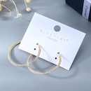 Korean fashion   goldplated  creative personality wild large circle hollow S925 silver needle  copper  earrings wholesale  NHPS218611