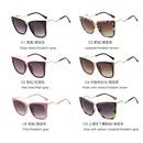 hot sale rivet fashion box sunglasses female craft temple highquality large frame sunglasses  wholesale nihaojewelry NHFY218351