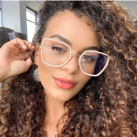 fashion new product TR90 flat mirror ladies trendy wild big frame glasses frame men with myopia glasses wholesale nihaojewelry NHFY218364's discount tags