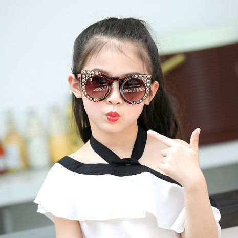 children's glasses trend rivets fashion sunglasses cool treasure sun protection eye protection sunglasses personality tide boy glasses NHFY218375's discount tags