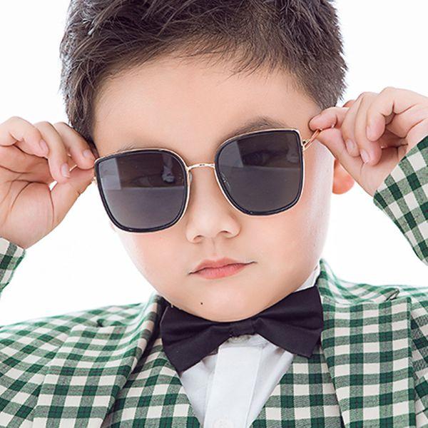 Square metal children's sunglasses baby sunglasses boys girls kids fashion sunglasses tide retro  wholesale nihaojewelry NHKD218410