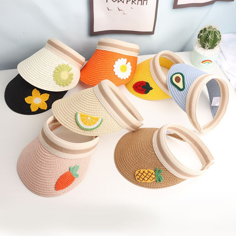 summer new hat Korean fashion cute fruit empty top hat casual shade personality wild straw hat  wholesale nihaojewelry NHXB218435