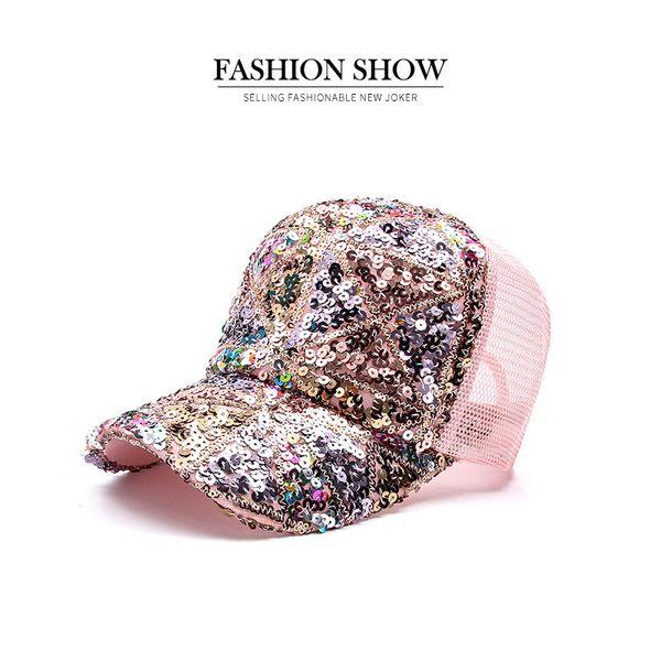 New Korean fashion baseball cap women's autumn and winter diamond diamond sequined cap with diamond trend hat spring and autumn sunscreen sun hat NHXB218449