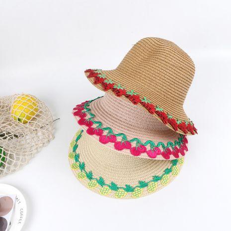 Summer children's straw hat female baby hat sunscreen sun hat beach big eaves straw sun hat kids outdoor NHTQ218473's discount tags