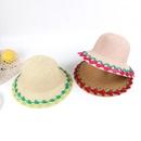 Summer childrens straw hat female baby hat sunscreen sun hat beach big eaves straw sun hat kids outdoor NHTQ218473