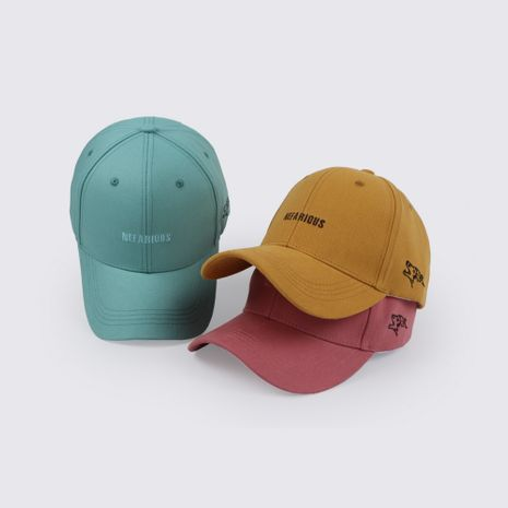 hat  wholesale spring summer new Korean embroidery baseball cap tide student wild casual cap women's sun hat NHTQ218479's discount tags