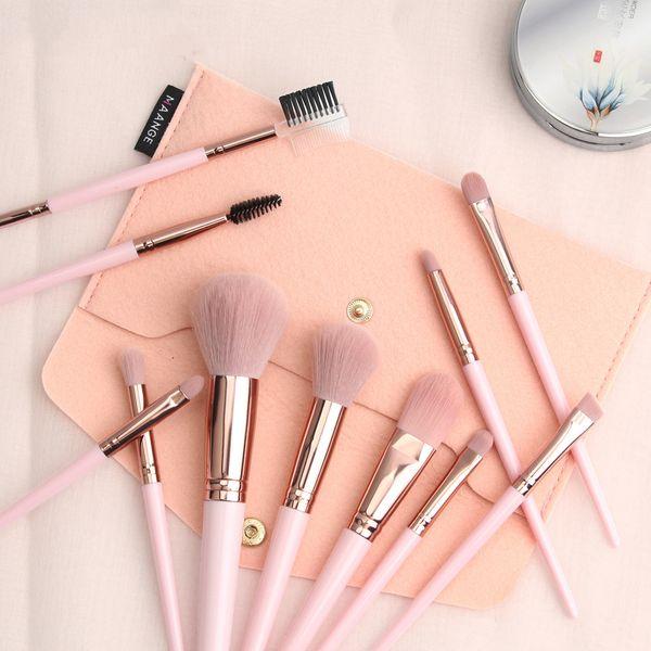 MAANGE  11 pieces pink makeup set brush with brush bag makeup tool hot sale  wholesale nihaojewelry NHDJ218525