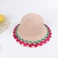 NHTQ682619-Fruit-straw-hat-with-side-pot-pink-Children-(50-5
