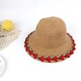 NHTQ682620-Fruit-straw-hat-side-pot-khaki-Children-(50-53CM)
