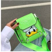hot selling fashion simple cute cartoon  new trendy broadband shoulder bag patent leather small square bag nihaojewelry wholesale NHTC218674