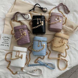new retro wild crocodile pattern portable bucket bag chain single shoulder messenger mobile phone bag nihaojewelry wholesale NHPB218738's discount tags