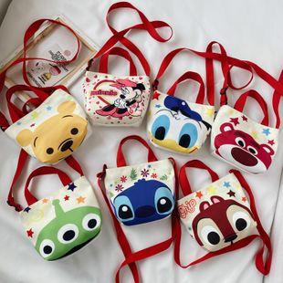 Nueva moda linda bolsa de lona de dibujos animados Minnie bolsa casual bolso de hombro para niños bolso de niños y niñas bolsa pequeña al por mayor NHGA218746's discount tags