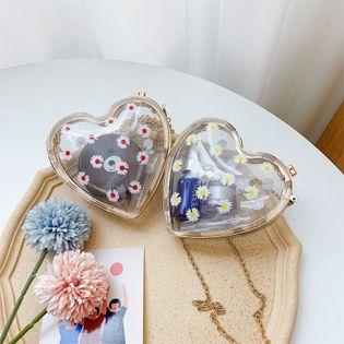 Acrylic bag little daisy transparent bag  new female bag  love shoulder chain crossbody bag.nihaojewelry wholesale NHGA218757