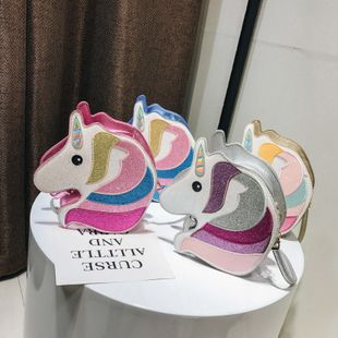 Korean new style fashion cartoon cute shoulder bag female simple wild unicorn hit color crossbody bag nihaojewelry wholesale NHPB218770's discount tags