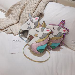 new fashion cute  personality girl laser shoulder bag female wild cartoon cute hit color unicorn crossbody bag nihaojewelry wholesale NHPB218771's discount tags