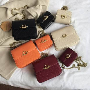 new Korean fashion rhombic embroidery thread diagonal bag female summer wild small fragrance wind flip shoulder small square bag nihaojewelry wholesale NHPB218773's discount tags