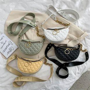 New Korean Personality Lingge Waist Pack Dumpling Bag Female  Wild Ring Single Shoulder Messenger Bag nihaojewelry wholesale NHPB218779's discount tags