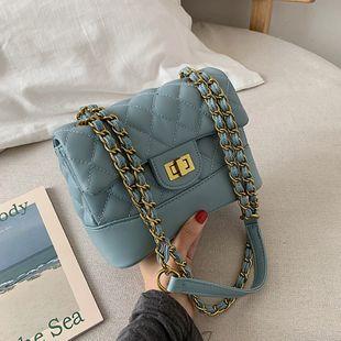 new fashion diamond chain small square bag Korean wild lock buckle shoulder messenger bag small bag nihaojewelry wholesale NHPB218786's discount tags