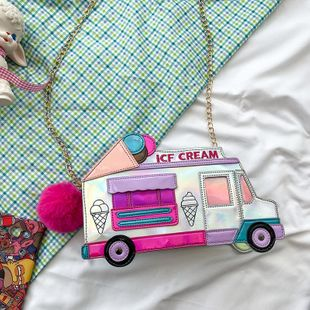 new  fashion creative ice cream car messenger bag funny personality colorful laser bag nihaojewelry wholesale NHHX218849's discount tags
