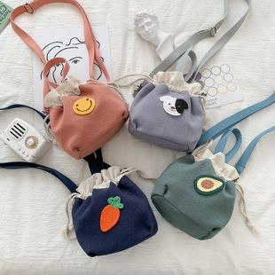 korean fashion new cute cartoon cloth stickers drawstring bucket cute  bag wholesale NHHX218854's discount tags