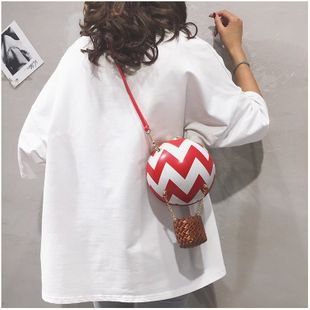 fashion new  creative spoof fun hot air balloon messenger bag personality hit color wild small bag female nihaojewelry wholesale NHHX218857's discount tags