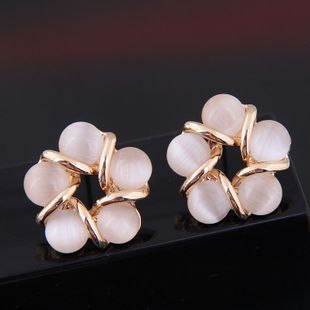 Exquisite Korean fashion sweet and  simple opal personality earrings wholesale nihaojewelry NHSC219061's discount tags